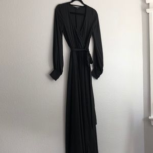 Long black dress with sleeves